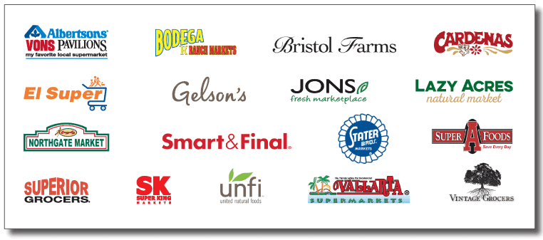 We are proud and honored to serve the associates and families of the following Grocery Retailers, and more: