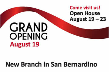 Open House Grand Opening New San Bernadino Branch